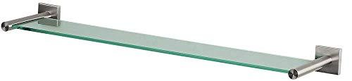 Spirella Wand-Glasablage NYO Badezimmerablage Ablage Wandablage für Das Badezimmer aus Glas und...