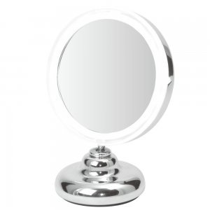 LED Illuminated Compact Table Mirror - 5x Magnified -Battery Operated by ClearView