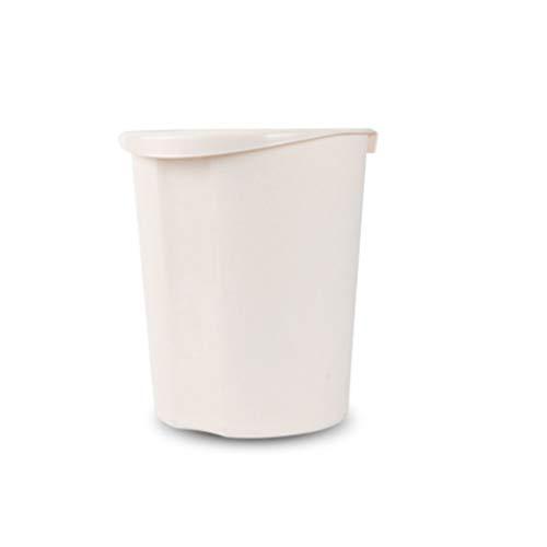 Zlw-shop Secchi per la spazzatura Scatola da Cucina a Parete Mini Contenitore Creativo Bianco