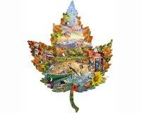 Herbst am See (Konturenpuzzle)