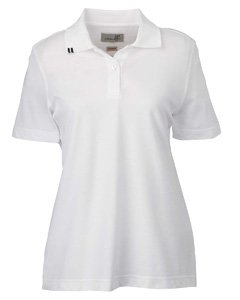 Ashworth AW Lad S/S 3 Butt EZ Tech Polo, Damen, weiß, Small - Ashworth Damen Kleidung