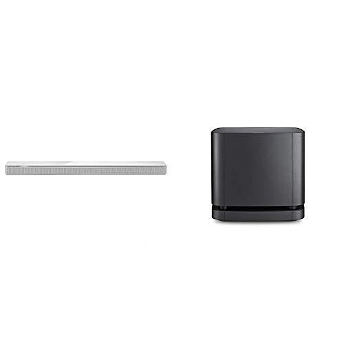 Bose Soundbar 700, Bluetooth, Wi-Fi, Bianco + Bass Module 500, Wireless, Nero