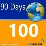 Inmarsat IsatPhone Prepaid SIM Karte mit 100 Einheiten (77 Minuten)