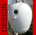 hochwertiges design Keramik Vogelhaus - Nistkasten - Egg Porzellan weiß