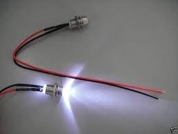 Preisvergleich Produktbild 5x LED weiß mit Fassung verkabelt 12V Sternenhimmel