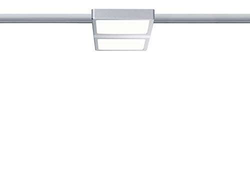 Paulmann LED URail System LED Panel Double 8W Chrom matt/Chrom 230V Alu/Kunststoff | LEDs fest verbaut 8W 695lm warmweiß | 953.09