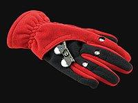 infactory Winter-LED-Handschuhe: Kuschelige Fleece-Handschuhe mit LED-Beleuchtung, grau Gr. L (Handschuhe mit LED-Lichter) - 3