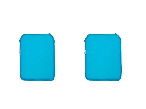 Catay home confezione da 2cuscini quadrati per sedia in 9colori disponibili 38x 39,8x 2,5centimetri turchese