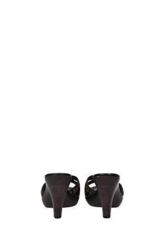 8Z2627YMQF0DLD Fendi Sandale Femme Tissu Noir Noir