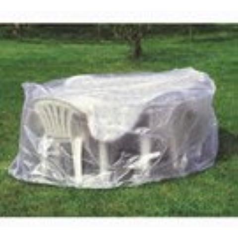 02520 Provence Outillage-Funda para mesa redonda y sillas de jardín, transparente