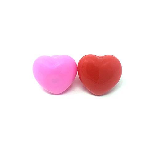 Ultra Pack von 72 Gemischten Mehrteiligen Blinkenden LED-Packung Von 2 Ringen Pink und Red Heart Jelly Stil Ringe für Partys Kostüme Raves Geschenktaschen und Geschenke (Rave Light Spielzeug Up)