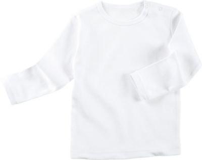 Erwin Müller Baby-Langarmshirt Interlock-Jersey weiß Größe 62/68