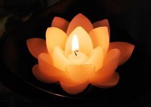 Vela mágica para decoración de tarta, diseño de loto musical