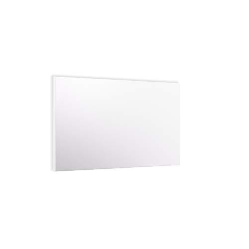 ETHERMA LAVA® BASIC-DM Infrarotheizung für Decke und Wand, 750 W, 62 x 124,5 x 2,2 cm, Strukturierte Oberfläche aus Stahlblech,  Made in Austria, TÜV,  5 Jahre Garantie, Farbe: reinweiß, LAVA-BASIC-750DM
