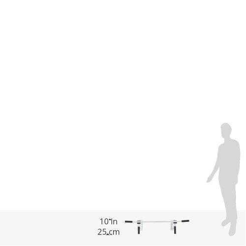 ScSPORTS Klimmzugstange Decke, 4 Griffe für Rückenübungen und Sixpack Training, Inklusive Schwerlastdübel für Montage, weiß -