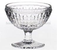 Élégant sur pied en verre Transparent Trifle Bol pour desserts et salades