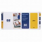 HP DesignJet 1050 C Plus - Original HP / C4823A / 80 / Druckkopf Yellow - 2500 pages Hp Druckkopf 80