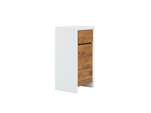 Woodkings Bad Unterschrank Burnham Pinie weiß natur rustikal Holz Möbel Badmöbel Badezimmer Badezimmerschrank Badschrank Massivholztüren Landhaus