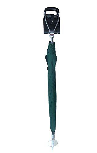 Simply Unearthed Brolly Gehstock mit integriertem Regenschirm und Sitzoption, schmal, Braun