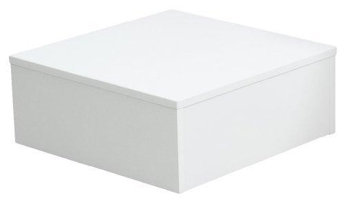 Office-podest (Ladeneinrichtung Warenträger Sockel Podest weiß (L: 50cm, H: 50cm, T: 20cm))