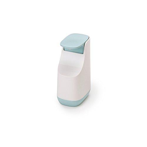 Joseph Joseph Bathroom Slim Compact Soap Dispenser, White/Blue