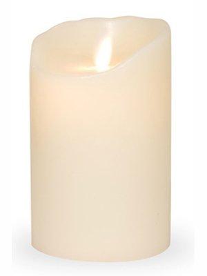 LED-Echtwachskerze ELFENBEIN GLATT 8 x 12,5cm
