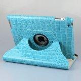 Ctech 360 Rotatif pivotant Premium Cas Vegan PU Cuir et Le Couvercle à Puce et Support pour iPad 2/3/4 (360ipa360-Croco-blu) 11.2 x 8.6 x 1 Pouce Bleu