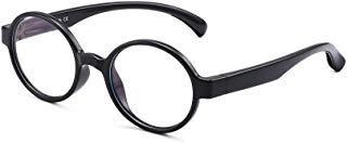 Kinder Blaues Licht blockiert Brillen Kids Runden Anti-Augen-Belastung Gläser für Computer, Telefone, TV, Video Gaming Mädchen Jungen Schwarz -