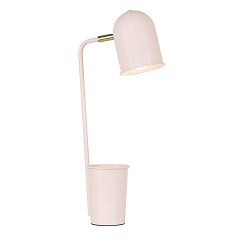FACAIG Bügeleisen Tischleuchte, Schreibtisch Studenten Studie lesen LED-Leuchten Schlafzimmer Nachttischlampe Schreibtisch Lampe POWER-Schalter Taster E27 * 1 (Farbe: Kirsche Pulver) (Kirsche Massivholz Tisch)