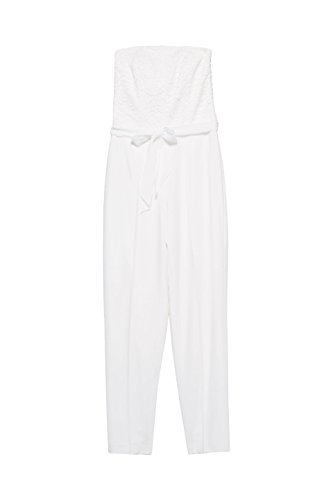 ESPRIT Collection Damen Jumpsuit 038EO1L001, Weiß (Off White 110), 34 - 3