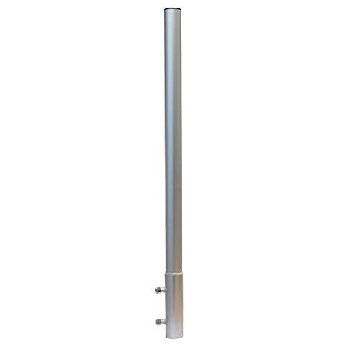 PremiumX Mastverlängerung 100 cm Ø 50 mm ALU Mastaufsatz Antennenmast Verlängerung Sat-Mast-Halter Aluminium mit Mastkappe