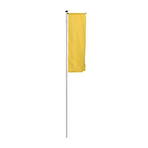 MANNUS Fahnenmast aus eloxiertem Aluminium - mit Zylinderschloss, Ø 100 mm, mit drehbarem Ausleger - Höhe über Flur 10 m - Fahne Fahnen Fahnenmast Fahnenstange Flagge Flaggen Flaggenmast