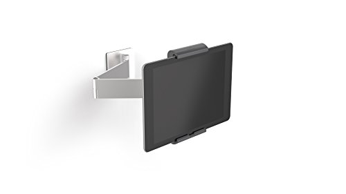 Durable 893423 Tablet Wandhalterung (mit Schwenkarm für Tablets 7-13 Zoll, 360° drehbar mit Diebstahlsicherung) silber/anthrazit -