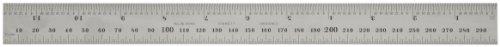 Starrett CB300–36Kombinationswinkel Klinge mit Zoll und Millimeter Graduierung, Sets schräg und Winkelmesser, 25mm Breite, 2,4mm Stärke, 300mm Größe