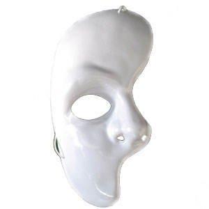 Maske Phantom der Oper - eine Gesichtshälfte ()