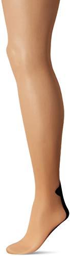 LEG AVENUE 9132X - Plus size cuban heel pantyhose, Größe 1X-2X, Farbe: Nude Und ()