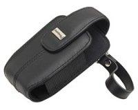 Blackberry 8300 Lammfell Leder Tasche Holster-Pitch Black (Schwarz Lammfell Leder Tote)