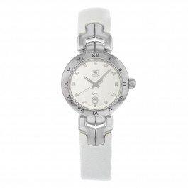 Orologio Donna Quarzo TAG Heuer display Analogico cinturino Pelle Bianco e quadrante Argento WAT1411.FC6316