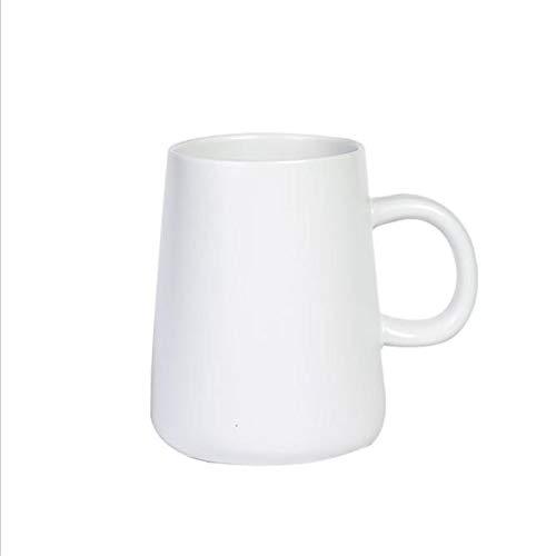 Hengrui smalto creativo tinta unita tazza tazza di caffè in ceramica casa nordic prima colazione tazza grande capacità bianca