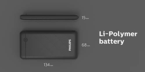 Philips DLP1710CV Fast Charging Power Bank 10000mAh with Lithium Polymer Battery Blue (Twin USB Output Port 3.1A, with Micro USB and Type c Enter) Image 9