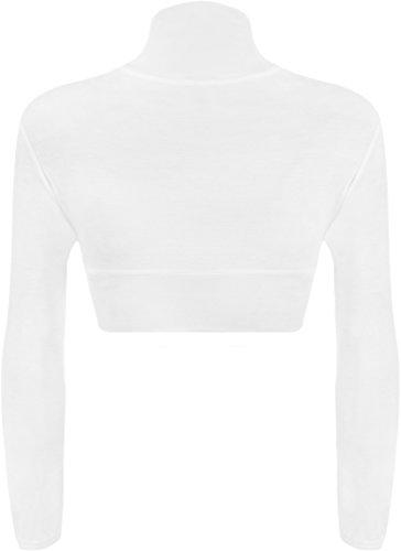 WearAll - Boléro simple à manches longues - Cardigans - Femmes - Tailles 36 à 42 Blanc