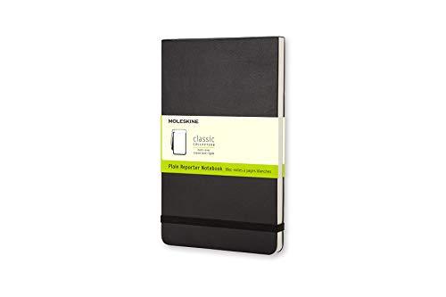 Moleskine Reporter-Notizblock Large, Hardcover, blanko, schwarz