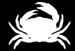 LLI Crab Silhouette, Vinyl-Aufkleber, für Autos, LKW, Vans, Wände, Laptop, Weiß, 14 x 10,2 cm, LLI1264