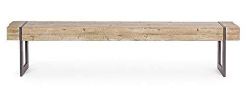 PEGANE Banc en Bois de Sapin et Fer - Dim : L 200 x P 30 x H 45 cm
