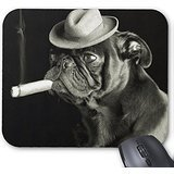 Hallo Herr Pad Pug Smoking a Cigar Maus Pad