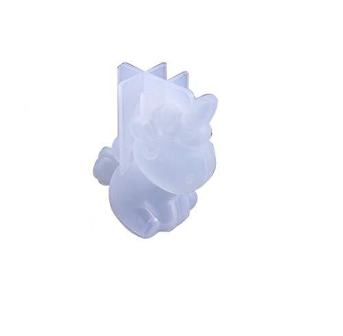 Nayohoh 3D Silikon-Form Einhorn, Epoxidharz, Einhorn, Epoxidharz, Weiß
