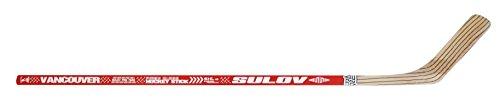 SULOV Eishockeyschläger Vancouver links Kurve, rot, 115cm, HOKEJSUL115L