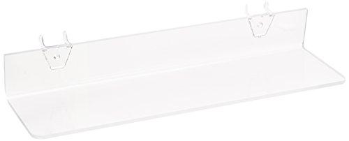 blage Acryl klar für Stecktafel oder Slatwall (4Pack) (Acryl Klar Pegboard)