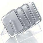 Novex Taschenspiegel / Kosmetikspiegel, quadratisch, 7-fache Vergrößerung