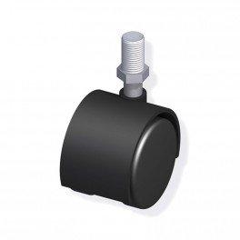 Roulette a visser filetage m10 acier/pvc noir diam 40mm pour tube alu et pvc